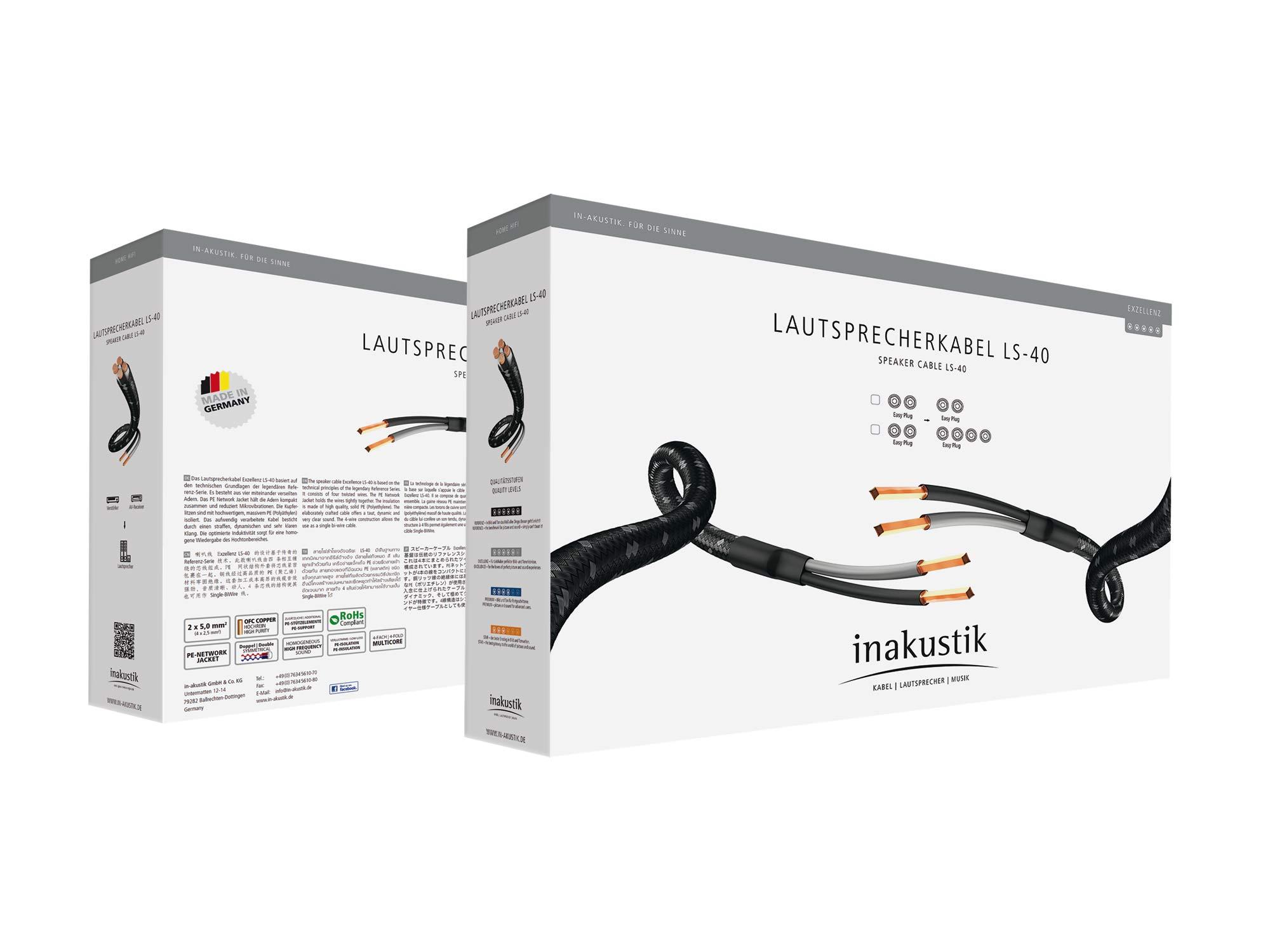 Inakustik Exzellenz Ls 40 Bi Wire 2 X 3 Meter Paarpreis Wiring A Plug Germany