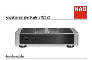 NAD M22 V2 Stereo Endstufe