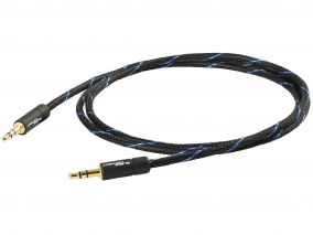 Goldkabel Black Connect Klinke 3,5/Klinke 3,5 MKII (versch.Längen)