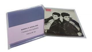 Simply Analog PVC 7 Coverhüllen für Singles (25 Stück)